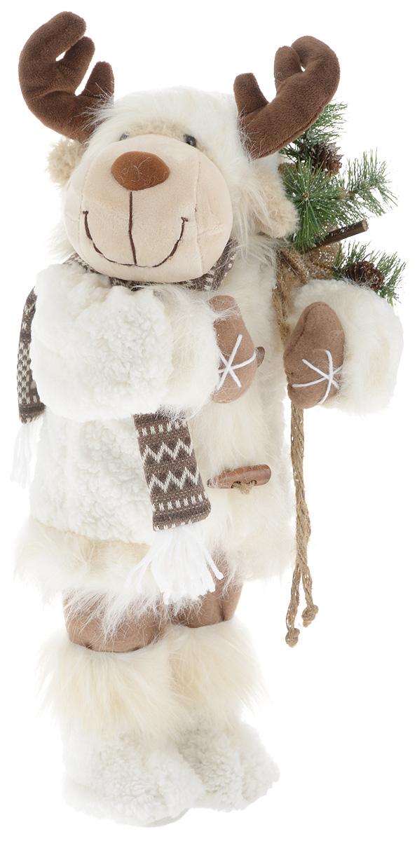 Фигурка новогодняя ESTRO Лось, цвет: белый, коричневый, высота 50 смC21-221025Декоративная фигурка Лось изготовлена из высококачественных материалов в оригинальном стиле. Фигурка выполнена в виде лося.Уютнаяи милая интерьерная игрушка предназначена для взрослых и детей, для игр и украшения новогодней елки, да и просто, для создания праздничной атмосферыв интерьере! Фигурка прекрасно украсит ваш дом к празднику, а в остальные дни с ней с удовольствием будут играть дети. Оригинальный дизайн и красочное исполнение создадут праздничное настроение. Фигурка создана вручную, неповторима и оригинальна. Порадуйте своих друзей и близких этим замечательным подарком!