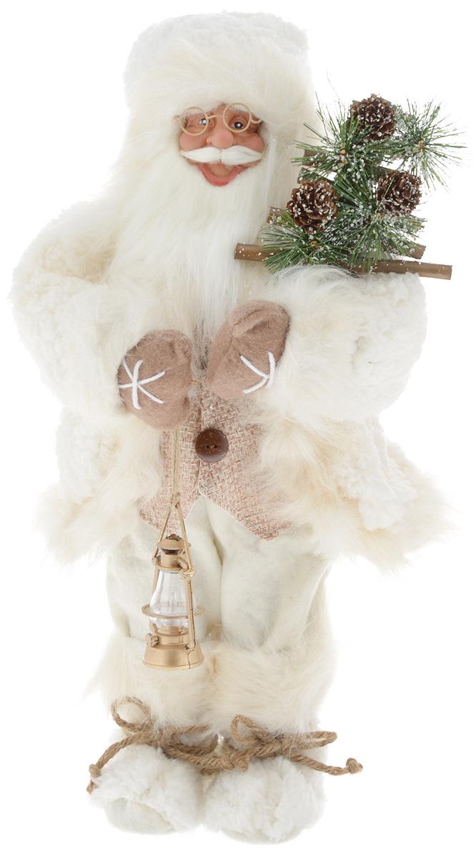 Фигурка новогодняя ESTRO Дед Мороз с лампой, цвет: белый, бежевый, высота 45 смC21-181306Декоративная фигурка Дед Мороз с лампой изготовлена из высококачественных материалов в оригинальном стиле. Фигурка выполнена в виде Деда Мороза с лампой.Уютнаяи милая интерьерная игрушка предназначена для взрослых и детей, для игр и украшения новогодней елки, да и просто, для создания праздничной атмосферыв интерьере! Фигурка прекрасно украсит ваш дом к празднику, а в остальные дни с ней с удовольствием будут играть дети. Оригинальный дизайн и красочное исполнение создадут праздничное настроение. Фигурка создана вручную, неповторима и оригинальна. Порадуйте своих друзей и близких этим замечательным подарком!