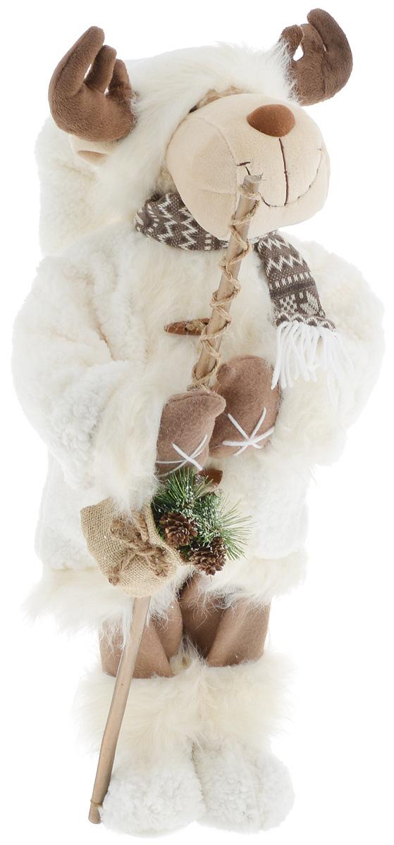Фигурка новогодняя ESTRO Лось, цвет: белый, коричневый, высота 70 смC21-281016Декоративная фигурка Лось изготовлена из высококачественных материалов в оригинальном стиле. Фигурка выполнена в виде лося.Уютнаяи милая интерьерная игрушка предназначена для взрослых и детей, для игр и украшения новогодней елки, да и просто, для создания праздничной атмосферыв интерьере! Фигурка прекрасно украсит ваш дом к празднику, а в остальные дни с ней с удовольствием будут играть дети. Оригинальный дизайн и красочное исполнение создадут праздничное настроение. Фигурка создана вручную, неповторима и оригинальна. Порадуйте своих друзей и близких этим замечательным подарком!