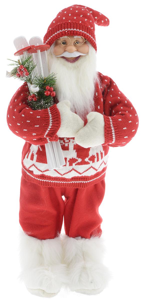 Фигурка новогодняя ESTRO Дед Мороз с лыжами, цвет: красный, белый, высота 60 смC21-241175Декоративная фигурка Дед Мороз с лыжами изготовлена из высококачественных материалов в оригинальном стиле. Фигурка выполнена в виде Деда Мороза с лыжами.Уютнаяи милая интерьерная игрушка предназначена для взрослых и детей, для игр и украшения новогодней елки, да и просто, для создания праздничной атмосферыв интерьере! Фигурка прекрасно украсит ваш дом к празднику, а в остальные дни с ней с удовольствием будут играть дети. Оригинальный дизайн и красочное исполнение создадут праздничное настроение. Фигурка создана вручную, неповторима и оригинальна. Порадуйте своих друзей и близких этим замечательным подарком!