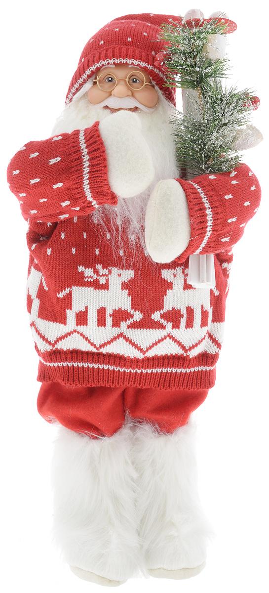 Фигурка новогодняя ESTRO Дед Мороз с лыжами, цвет: красный, белый, высота 50 смC21-181341Декоративная фигурка Дед Мороз с лыжами изготовлена из высококачественных материалов в оригинальном стиле. Фигурка выполнена в виде Деда Мороза с лыжами.Уютнаяи милая интерьерная игрушка предназначена для взрослых и детей, для игр и украшения новогодней елки, да и просто, для создания праздничной атмосферыв интерьере! Фигурка прекрасно украсит ваш дом к празднику, а в остальные дни с ней с удовольствием будут играть дети. Оригинальный дизайн и красочное исполнение создадут праздничное настроение. Фигурка создана вручную, неповторима и оригинальна. Порадуйте своих друзей и близких этим замечательным подарком!