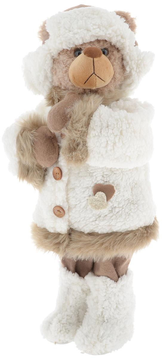 Фигурка новогодняя ESTRO Медведь, цвет: белый, коричневый, высота 55 смC21-221042Декоративная фигурка Медведь изготовлена из высококачественных материалов в оригинальном стиле. Фигурка выполнена в виде медведя в зимнем наряде. Уютнаяи милая интерьерная игрушка предназначена для взрослых и детей, для игр и украшения новогодней елки, да и просто, для создания праздничной атмосферыв интерьере!Фигурка прекрасно украсит ваш дом к празднику, а в остальные дни с ней с удовольствием будут играть дети. Оригинальный дизайн и красочное исполнение создадут праздничное настроение. Фигурка создана вручную, неповторима и оригинальна.Порадуйте своих друзей и близких этим замечательным подарком!