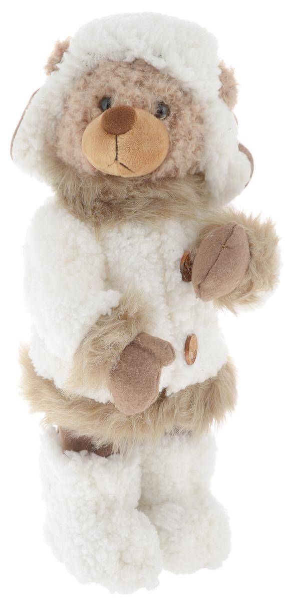Фигурка новогодняя ESTRO Медведь, цвет: белый, коричневый, высота 40 смC21-161162Декоративная фигурка Медведь изготовлена из высококачественных материалов в оригинальном стиле. Фигурка выполнена в виде медведя в зимнем наряде.Уютнаяи милая интерьерная игрушка предназначена для взрослых и детей, для игр и украшения новогодней елки, да и просто, для создания праздничной атмосферыв интерьере! Фигурка прекрасно украсит ваш дом к празднику, а в остальные дни с ней с удовольствием будут играть дети. Оригинальный дизайн и красочное исполнение создадут праздничное настроение. Фигурка создана вручную, неповторима и оригинальна. Порадуйте своих друзей и близких этим замечательным подарком!