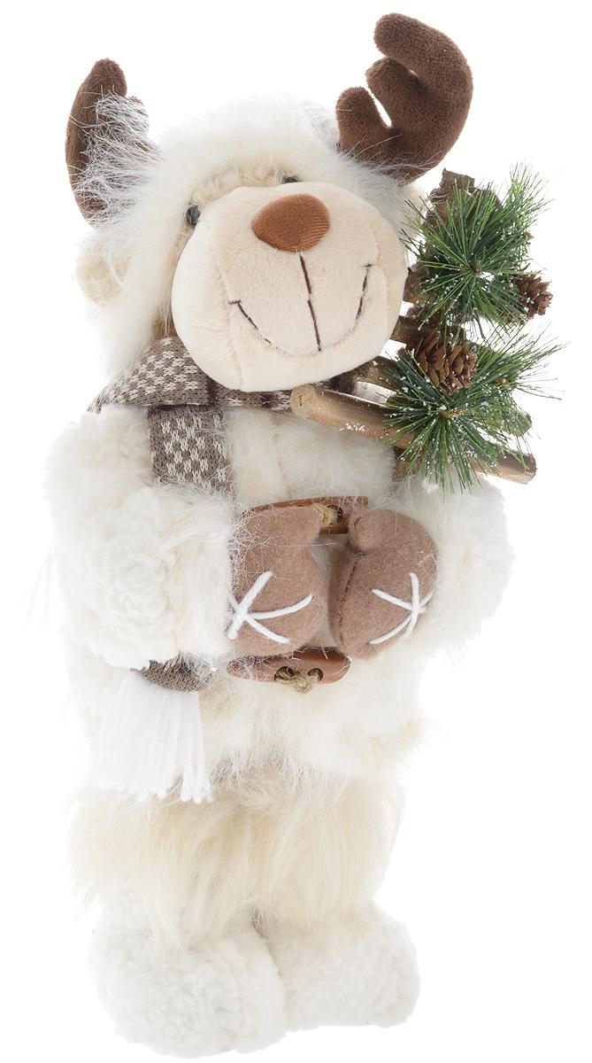 Фигурка новогодняя ESTRO Лось, цвет: белый, коричневый, высота 40 смC21-161119Декоративная фигурка Лось изготовлена из высококачественных материалов в оригинальном стиле. Фигурка выполнена в виде лося. Уютнаяи милая интерьерная игрушка предназначена для взрослых и детей, для игр и украшения новогодней елки, да и просто, для создания праздничной атмосферыв интерьере!Фигурка прекрасно украсит ваш дом к празднику, а в остальные дни с ней с удовольствием будут играть дети. Оригинальный дизайн и красочное исполнение создадут праздничное настроение. Фигурка создана вручную, неповторима и оригинальна.Порадуйте своих друзей и близких этим замечательным подарком!.