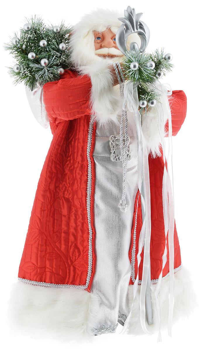 Фигурка новогодняя ESTRO Дед Мороз с посохом, цвет: красный, серебристый, высота 60 смC21-241046Декоративная фигурка Дед Мороз с посохом изготовлена из высококачественных материалов в оригинальном стиле. Фигурка выполнена в виде Деда Мороза с посохом.Уютнаяи милая интерьерная игрушка предназначена для взрослых и детей, для игр и украшения новогодней елки, да и просто, для создания праздничной атмосферыв интерьере! Фигурка прекрасно украсит ваш дом к празднику, а в остальные дни с ней с удовольствием будут играть дети. Оригинальный дизайн и красочное исполнение создадут праздничное настроение. Фигурка создана вручную, неповторима и оригинальна. Порадуйте своих друзей и близких этим замечательным подарком!