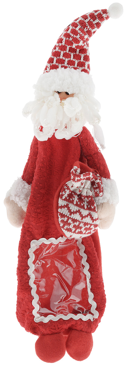 Упаковка для бутылки Mister Christmas Дед Мороз, высота 38 смHM-009R_красныйВеселая новогодняя игрушка-упаковка для бутылки Mister Christmas Дед Мороз - отличный способ оригинально подарить алкоголь на Новый год! Сложно представить себе Новый Год без бутылки шампанского. Такой, казалось бы, банальный подарок моментально превратится в сногсшибательный презент, если его упаковать в новогодний костюм Деда Мороза. Игрушка-упаковка сделана из приятных на ощупь качественных материалов. В нее можно спрятать не только шампанское, но и бутылку любого алкоголя, подходящую по размеру. Благодаря такой одежде игристое вино сразу приобретает индивидуальность и оригинальность. В ней бутылка алкоголя может стать самостоятельным подарком, который не будет требовать абсолютно никаких дополнений.Такой подарок будет заметно отличаться от привычных новогодних презентов. Пусть веселая новогодняя игрушка-упаковка для бутылки Mister Christmas Дед Мороз порадует ваших коллег, друзей и близких.