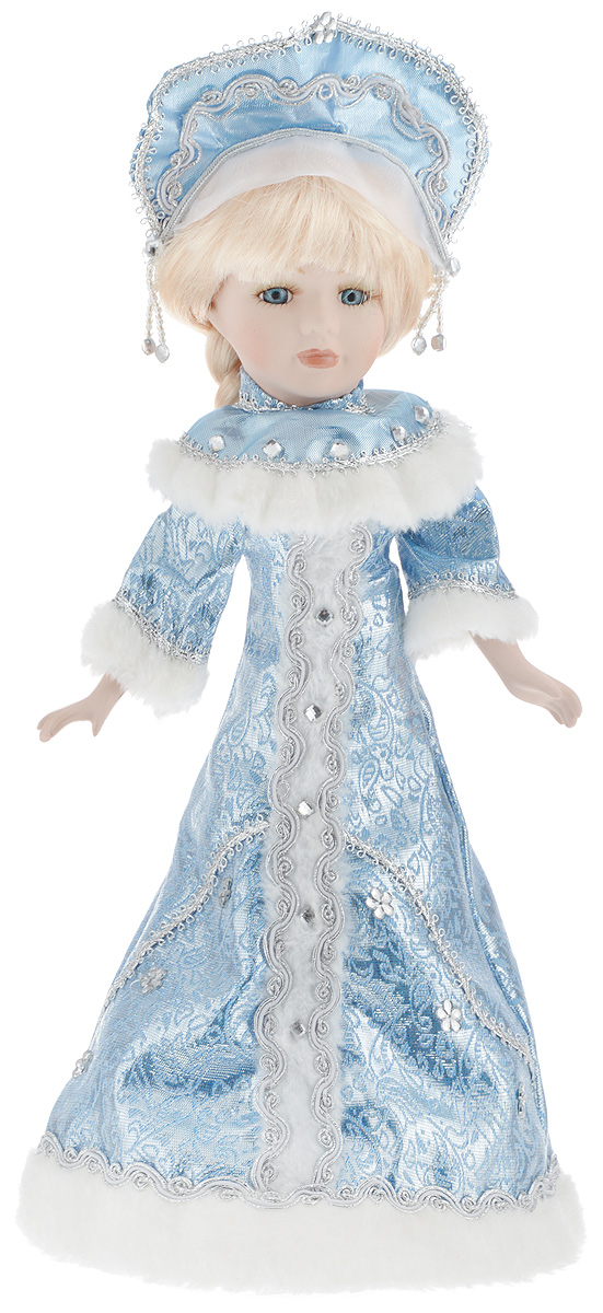 Фигурка новогодняя ESTRO Снегурочка, цвет: голубой, белый, высота 40 смC21-168290Декоративная фигурка ESTRO Снегурочка выполнена из высококачественных материалов в оригинальном стиле. Фигурка выполнена в виде Снегурочки. Уютная и милая интерьерная игрушка предназначена для взрослых и детей, для игр и украшения новогодней елки, да и просто, для создания праздничной атмосферыв интерьере!Фигурка прекрасно украсит ваш дом к празднику, а в остальные дни с ней с удовольствием будут играть дети. Оригинальный дизайн и красочное исполнение создадут праздничное настроение.Фигурка создана вручную, неповторима и оригинальна.Порадуйте своих друзей и близких этим замечательным подарком!