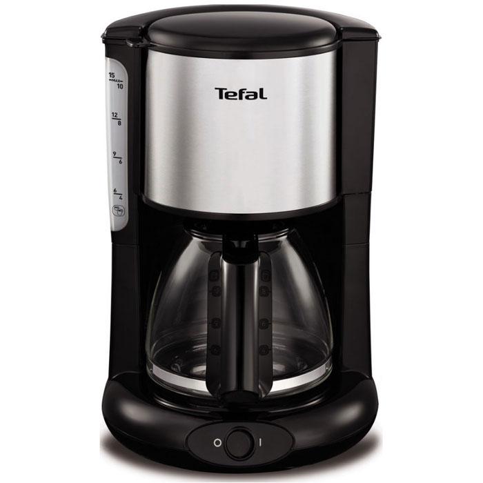 Tefal CM361838 кофеваркаCM361838Если вы любите пить горячий свежесваренный кофе, то вам непременно стоит обратить внимание на современную кофеварку Tefal CM361838. Этот прибор обладает мощностью в 1000 Вт, что позволяет ему в считанные мгновения приготовить превосходный кофе.Наслаждайтесь непревзойденным вкусом своего любимого напитка ежедневно! Простое управление управление капельной кофеваркой Tefal не доставит никаких трудностей. Готовый кофе поступает в специальную емкость, объем которого достигает 1,25 литра. Поэтому кофеварку можно использовать даже в большой семье.Tefal CM361838 отличается невероятной легкостью в обслуживании. Она оснащена специальной противокапельной системой, поэтому рабочая поверхность или скатерть на столе всегда будут чистыми. Кроме того, этот прибор обладает наглядным индикатором уровня воды, что позволяет вам контролировать работу прибора. Благодаря своим компактным размерам и черному цвету корпуса, изготовленного из качественных материалов, этот прибор гармонично дополнит интерьер любой современной кухни. Теперь вы сможете наслаждаться своими любимыми напитками в любое время. Ощутите неповторимый вкус и непревзойденное качество кофе с новой кофеваркой от Tefal!Как выбрать кофеварку. Статья OZON Гид