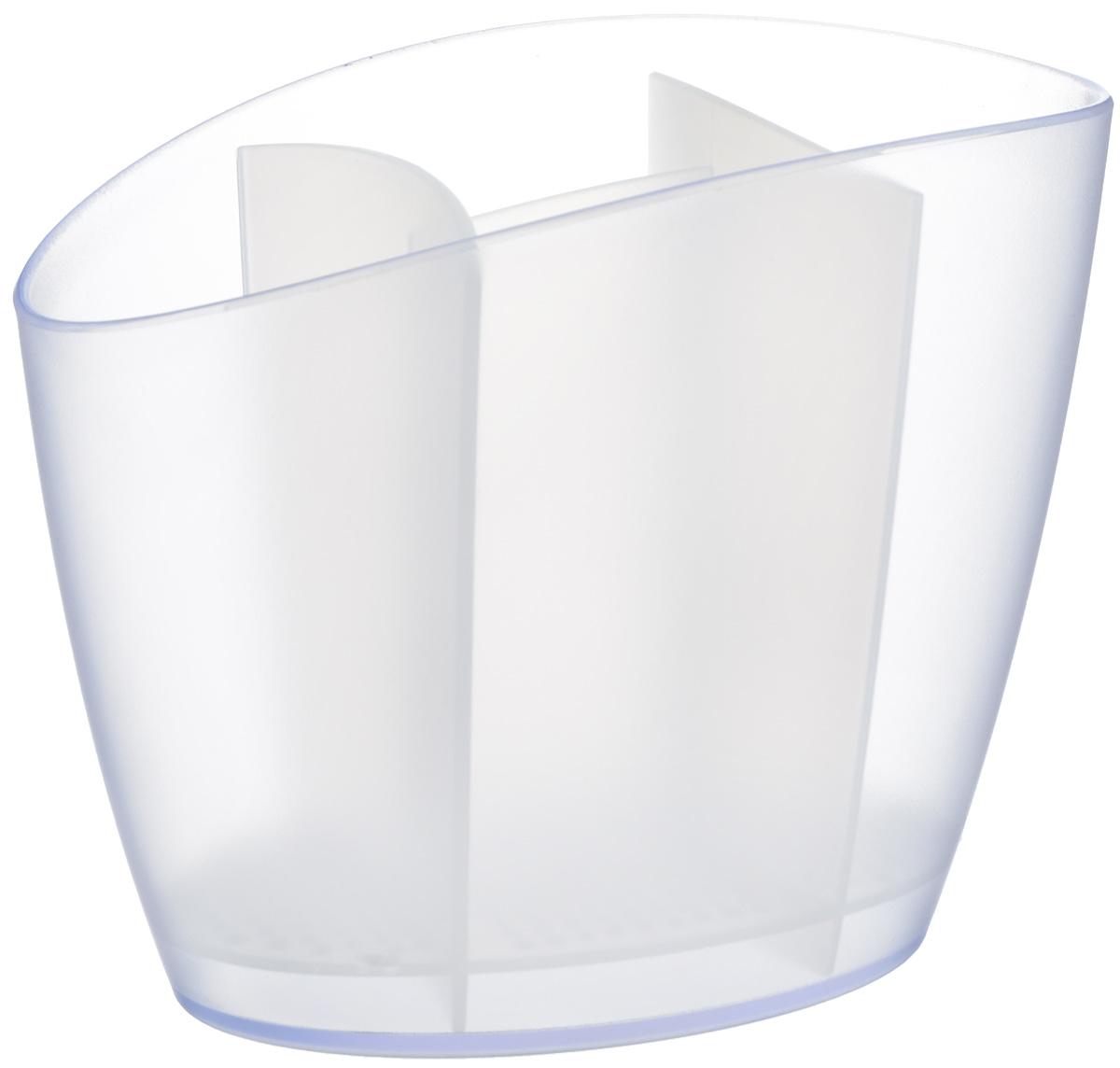Сушилка для столовых приборов Tescoma Clean Kit, цвет: белый, 19,5 х 11 х 15,5 см900640.11Сушилка Tescoma Clean Kit, выполненная из высококачественного пластика, прекрасно подходит для сушки столовых приборов. Для легкости очищения снабжена съемной подставкой для стока воды. Изделие хорошо впишется в интерьер, не займет много места, а столовые приборы будут всегда под рукой.Можно мыть в посудомоечной машине.Размер изделия: 19,5 х 11 х 15,5 см.