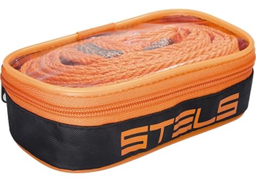 """Трос буксировочный """"Stels"""", ленточный, с 2 крюками, с чехлом, 7 т, 4,6 м"""