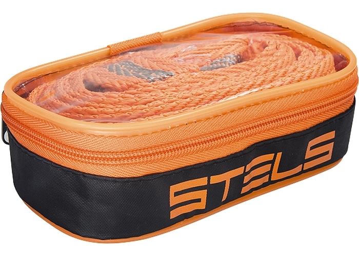 """Трос буксировочный """"Stels"""", ленточный, с петлями, с чехлом, 12 т, 4,6 м"""
