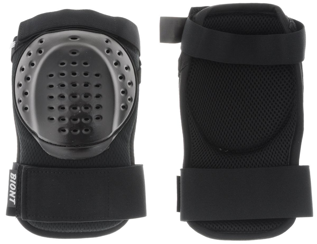 Защита колена Biont, цвет: черный. Размер S/M118BBBC16021000Дышащая композитная защита колена Biont защитит вас от травмирования ног. Выполнена из текстиля и прочного пластика. Профилированная по форме колена чашка из ударопрочного пластика встроена в амортизационную композиционную конструкцию защиты. Она не стеснит ваших движений. Защита закрепляется на ноге при помощи эластичных лент на липучке.