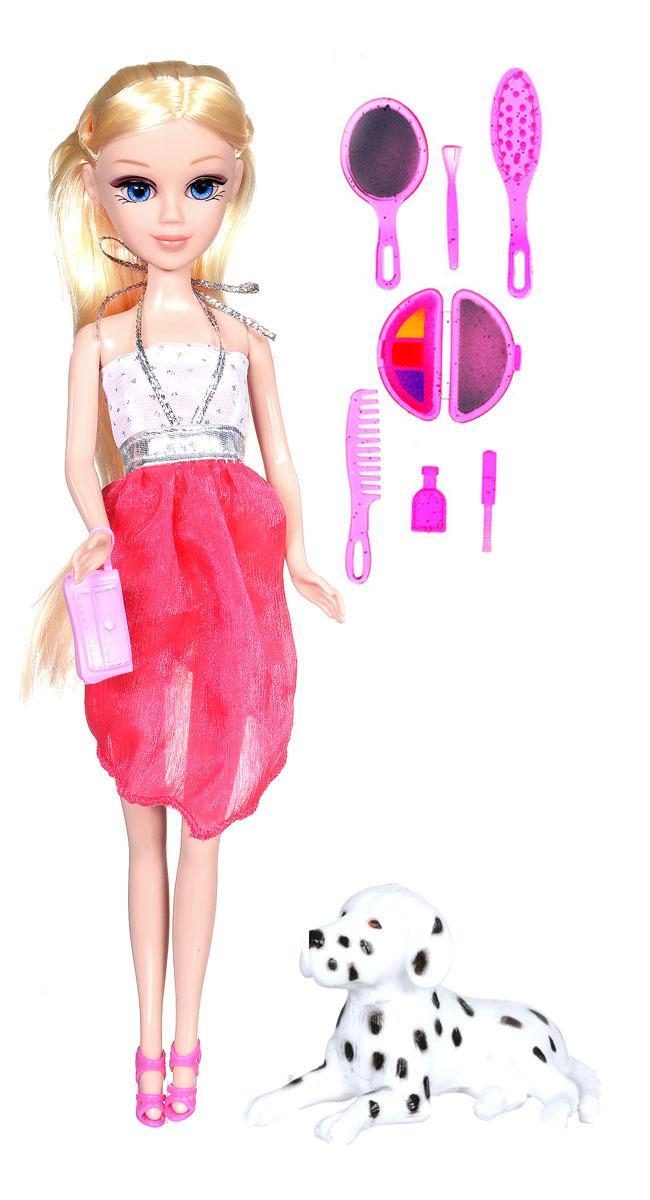 Карапуз Кукла Мария с собачкой цвет платья красный белый куклы jada набор кьюти попс делюкс кукла стар с собачкой
