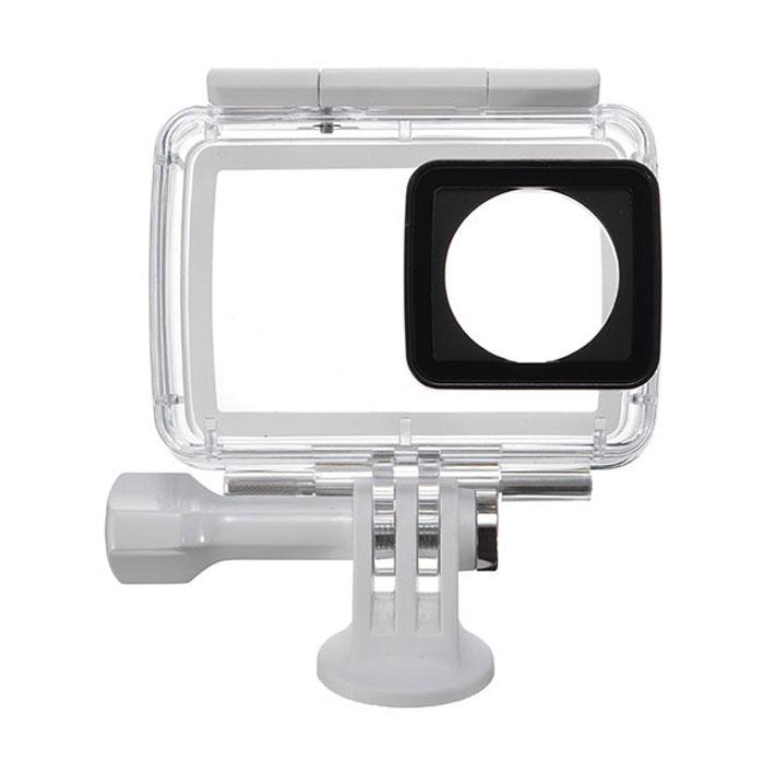Xiaomi аквабокс для экшн-камеры Yi 4K91010Оригинальный аквабокс для подводной съемки фирмы Xiaomi предназначен для защиты камеры YI 4K от попадания пыли, воды и создан специально для съемки объектов под водой. Аксессуар имеет степень защиты по международной классификации IP68 (Ingress Protection Rating).IP68 - этомаркировка для пыленепроницаемого бокса, выдерживающего длительное погружение в воду под давлением.Аквабокс был спроектирован специально для подводной съемки, он абсолютно герметичен по всем плоскостям и рассчитан на погружение под воду до 132 футов (40 метров). Суперпрочный корпус аквабокса устойчив к давлению и поможет защитить камеру не только от проникновения воды, пыли и твердых предметов, но и от ударов при случайном падении.Линза камеры закрывается стеклом ultra-white glass B270 производства немецкой компании Schott. Это прозрачное стекло с низким содержанием железа, коэффициент пропускания света в котором составляет 98,5%. Стекло ultra-white glass B270 не искажает истинные цвета объекта, сохраняя их насыщенными и яркими. Вы сможете использовать все преимущества камеры Xiaomi YI 4K и делать четкие снимки под водой, сохраняя все краски и цвета подводного мира.Материал: поликарбонат, стекло, силикон
