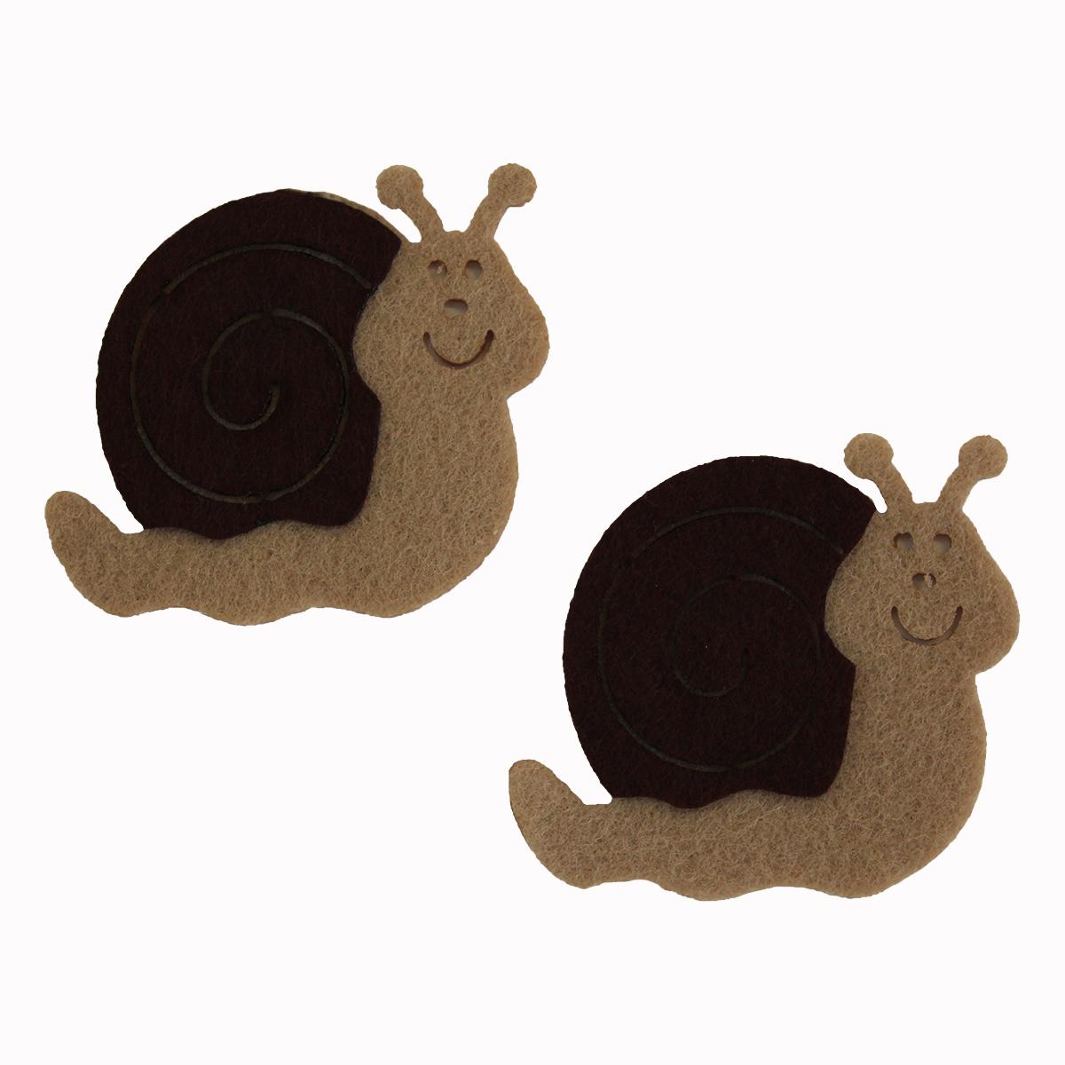 Фигурки из фетра Glorex Улитки, цвет: бежевый, коричневый, 5,5 см, 5 шт318681