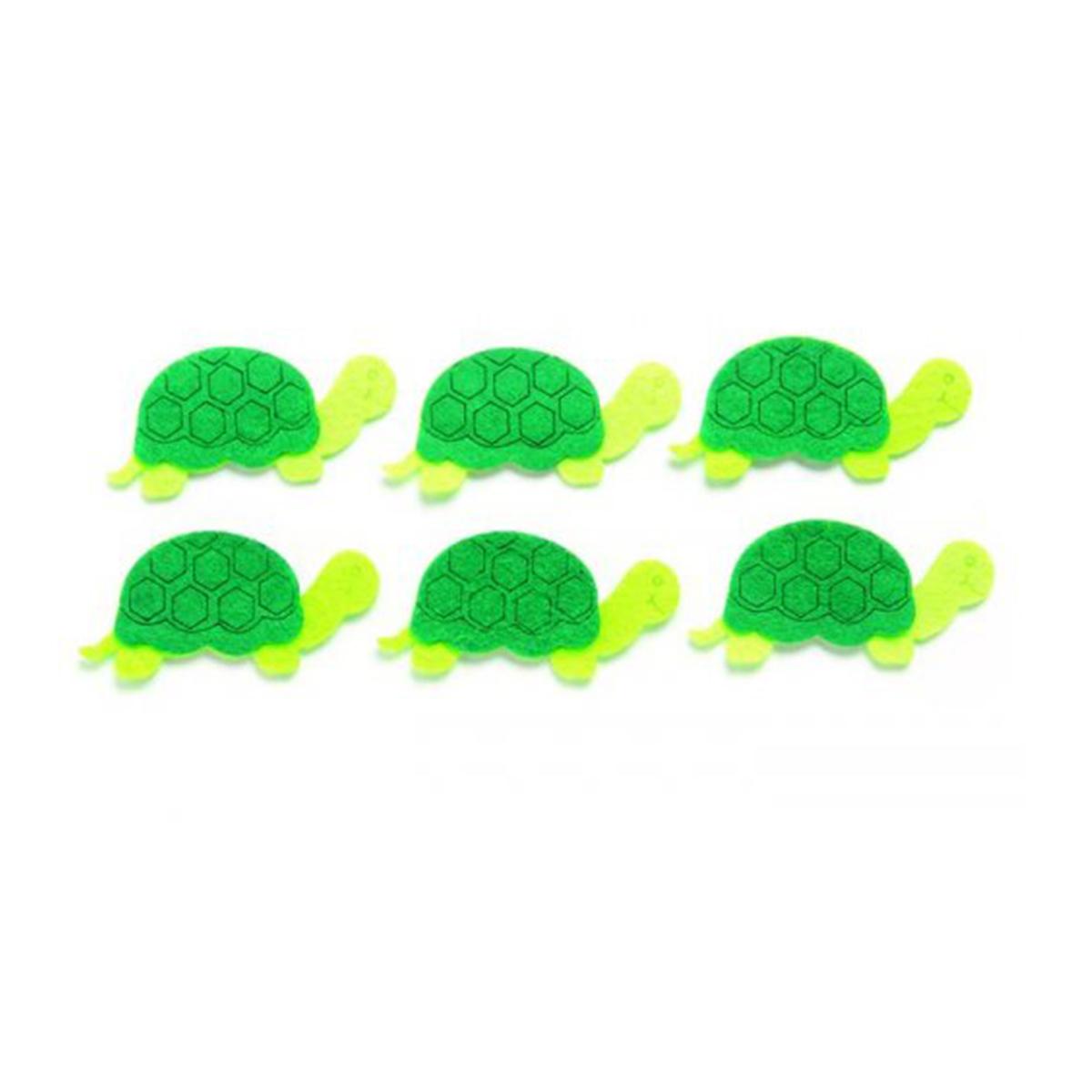 Фигурки из фетра Glorex Черепахи, цвет: зеленый, 7 см, 6 шт318694Фетр пользуется большой популярностью среди рукодельниц. Его любят за эстетичный вид, практичность и отличную текстуру. Из данного материала вашему вниманию предлагаются заготовки Glorex. Широкое разнообразие цветов и форм поможет реализовать творческие задумки и гармоничным образом дополнить ваше творение. Из фетра можно создавать обложки для книг, ежедневников, игрушки, декоративные чехлы для подушек и многое, многое другое.