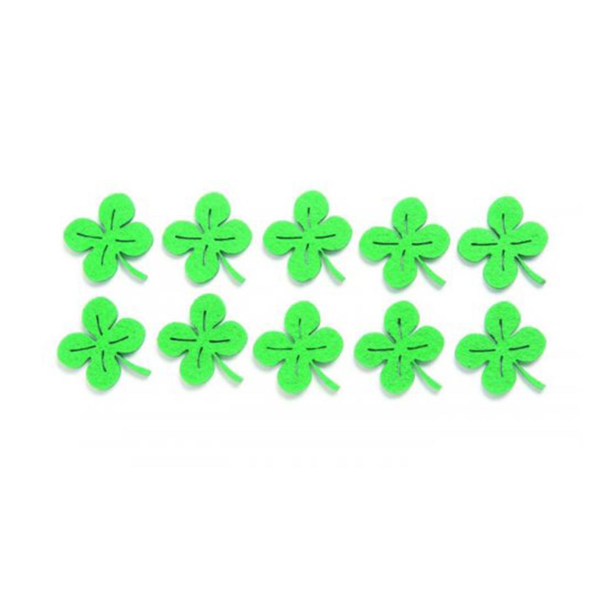 Фигурки из фетра Glorex Листья клевера, цвет: зеленый, 3,5 см, 10 шт318696