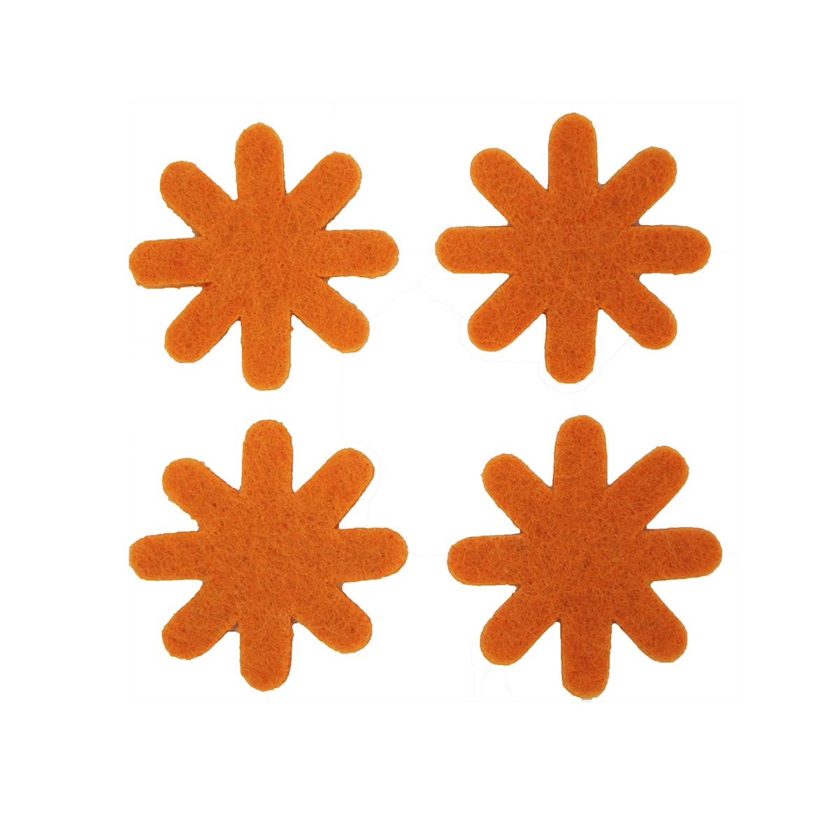 Цветок из фетра Glorex, цвет: оранжевый, 3 см, 12 шт318793