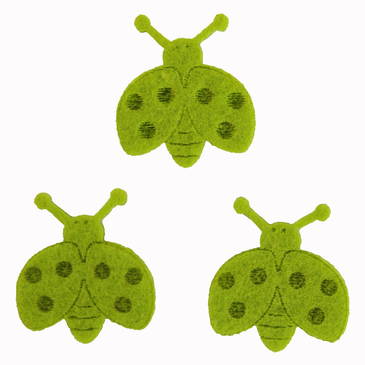 Фигурки из фетра Glorex Божьи коровки, цвет: светло-зеленый, 10 шт318818