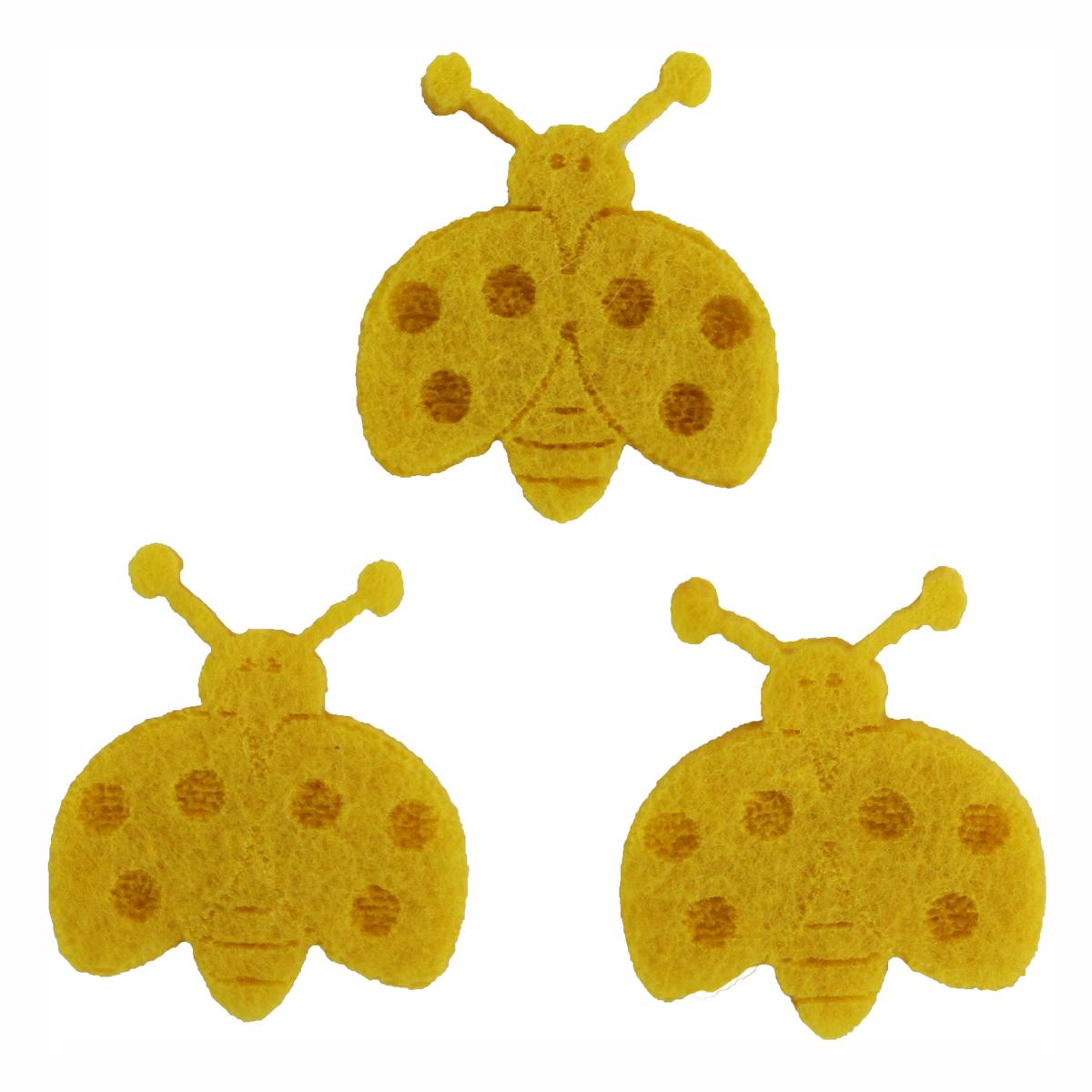 Фигурки из фетра Glorex Божьи коровки, цвет: желтый, 10 шт318819
