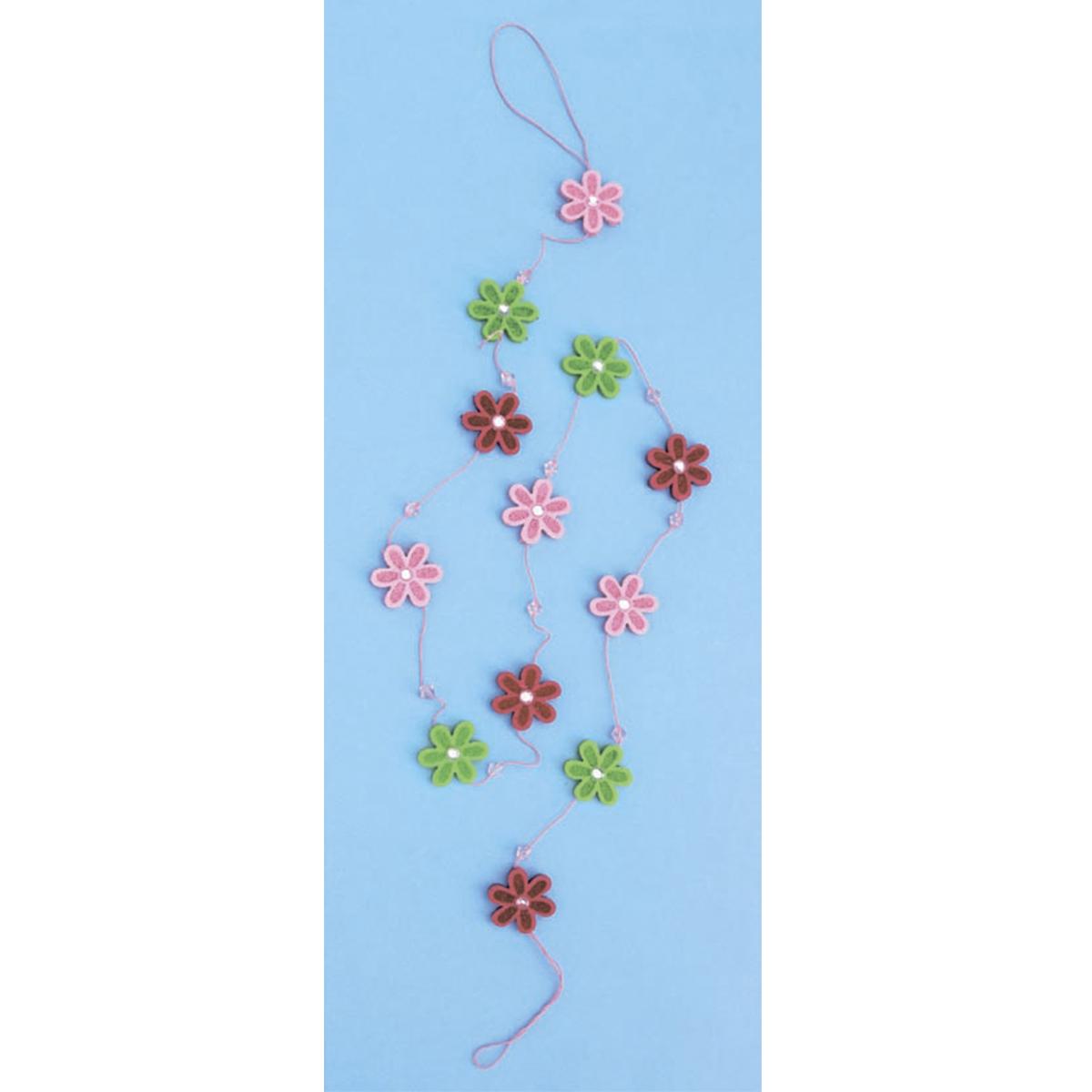 Гирлянда из цветов из фетра Glorex, 117 x 3 см318828