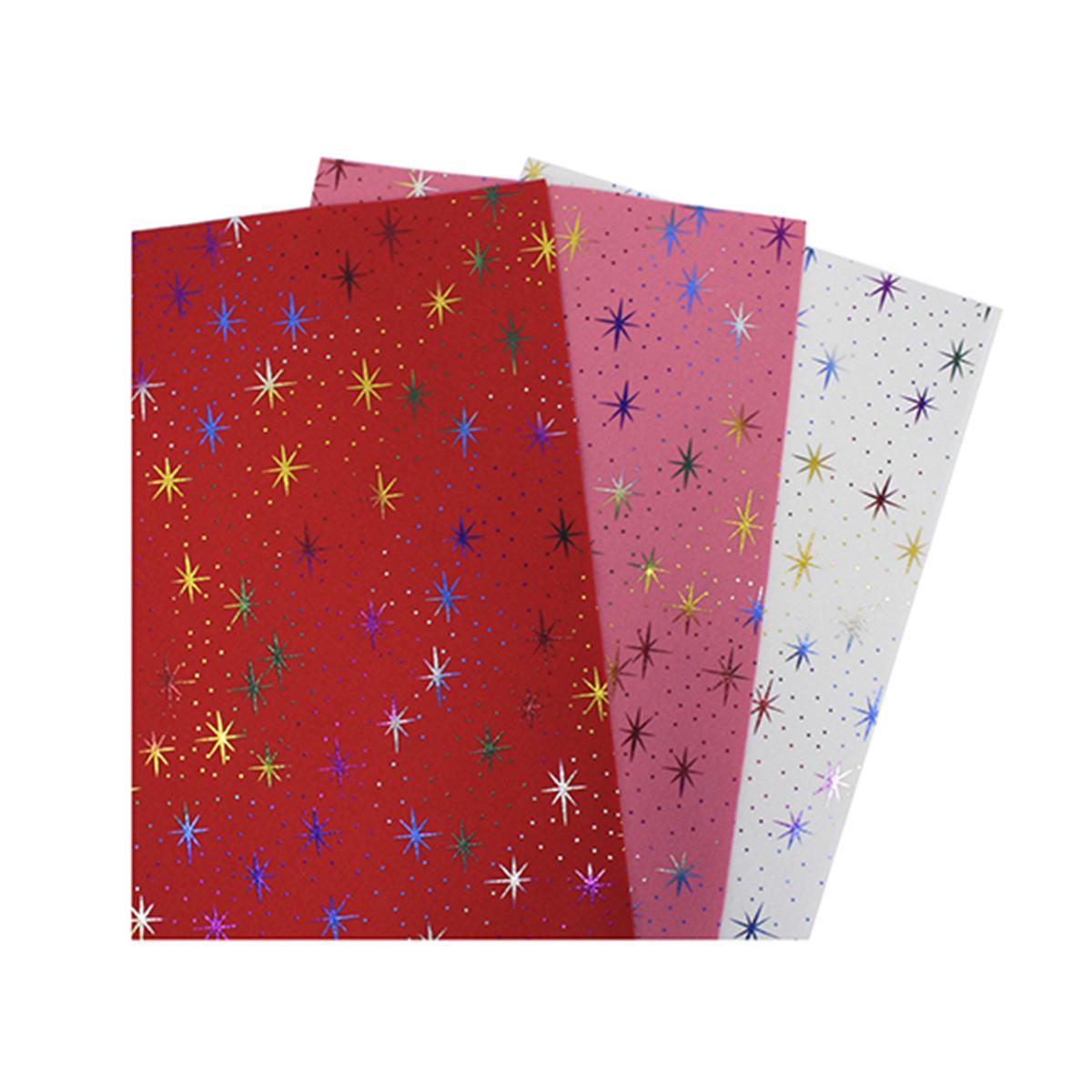 Фетр листовой декоративный Астра Звезды, 20 х 30 см, 3 шт7717057