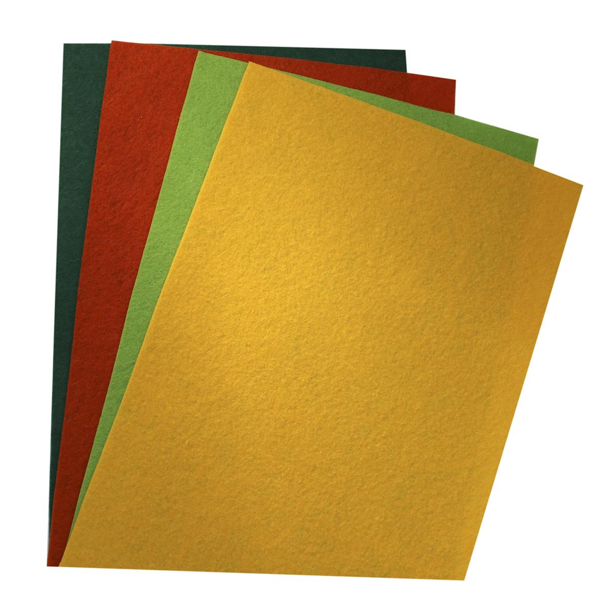 Фетр листовой Астра Ассорти, 20 х 30 см, 4 шт. 7715420_67715420_6