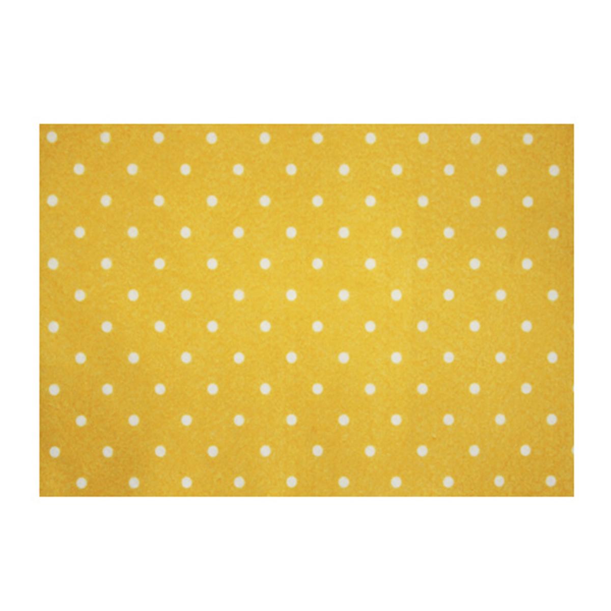Фетр листовой декоративный Астра Горох, цвет: желтый, 20 х 30 см, 5 шт7715763_YF 640 желтый
