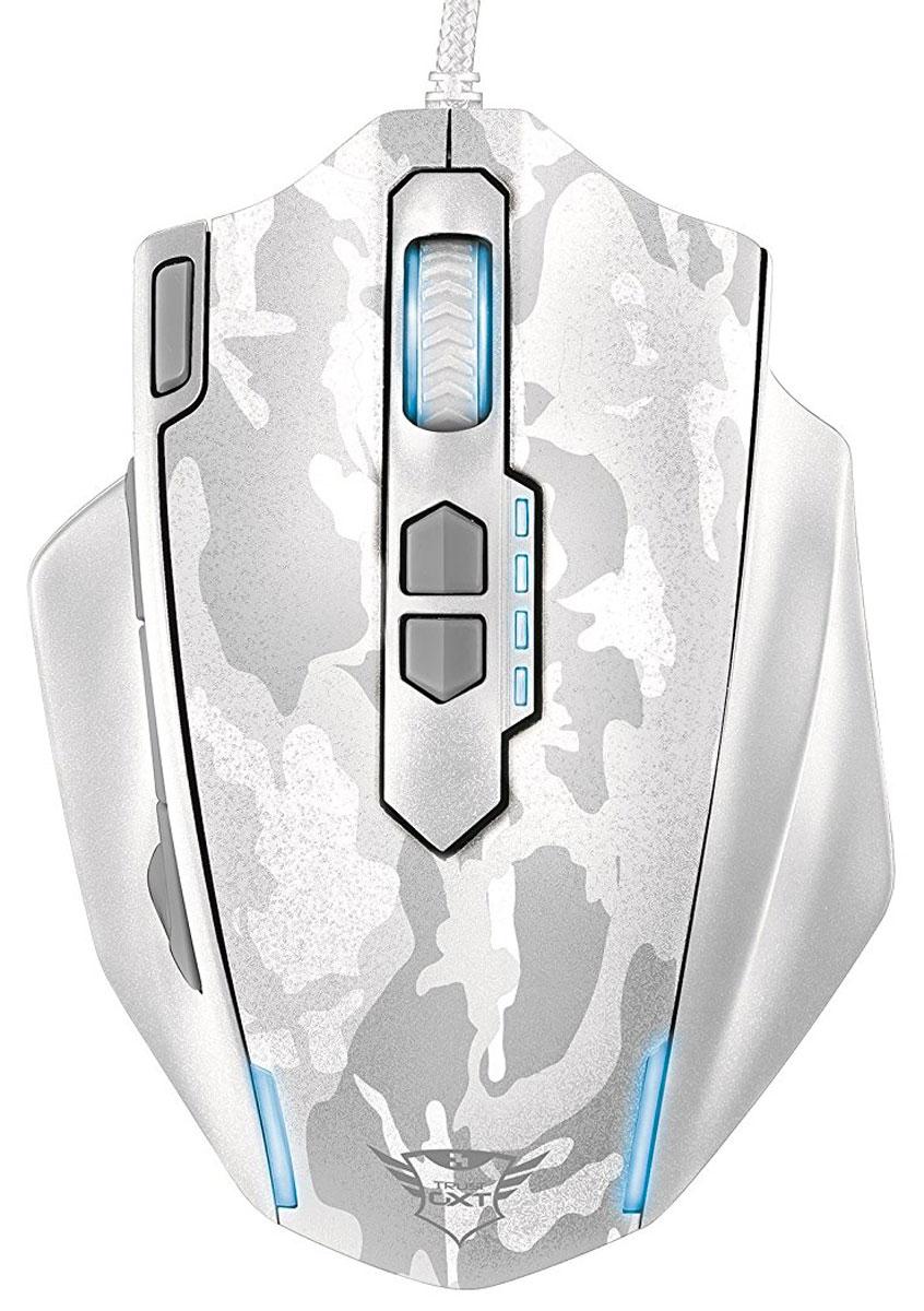 Trust GXT 155, White игровая мышь20852Многофункциональная игровая мышь премиум-класса Trust GXT 155 с изменяемым весом и внутренней памятью для профилей настройки. Мышь имеет мощную аппаратную начинку и эргономичный корпус. Благодаря 5 дополнительным программируемым кнопкам под большой палец идеально подходит для игр в жанре MOBA. Память устройства позволяет хранить до пяти игровых профилей. 8 металлических грузиков (весом 2 г каждый) помогут подобрать оптимальный вес мыши. В комплект входит расширенная версия ПО для программирования кнопок и создания макросов.Частота опроса: 125/250/500/1000 Гц