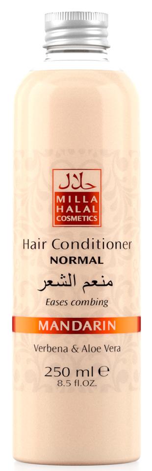 Milla Halal Cosmetics Кондиционер для нормальных волос с экстрактами вербены и алоэ вера MILLA MANDARIN, 250МЛ10768100% натуральный продукт. Кондиционер для нормальных волос с экстрактами листьев Вербены лекарственной и Алоэ Вера является эффективным средством по уходу за любым типом волос, подходит для частого применения. Кондиционер значительно облегчает расчёсывание волос, не утяжеляет их.