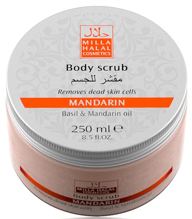 Milla Halal Cosmetics Скраб для тела с маслами базилика и мандарина MILLA MANDARIN, 250МЛ10787100% натуральный продукт. Скраб для тела очищает кожу от загрязнений и ороговевших частиц, способствует улучшению кровообращения, активизирует регенерацию клеток, освежает, смягчает и выравнивает рельеф кожи.