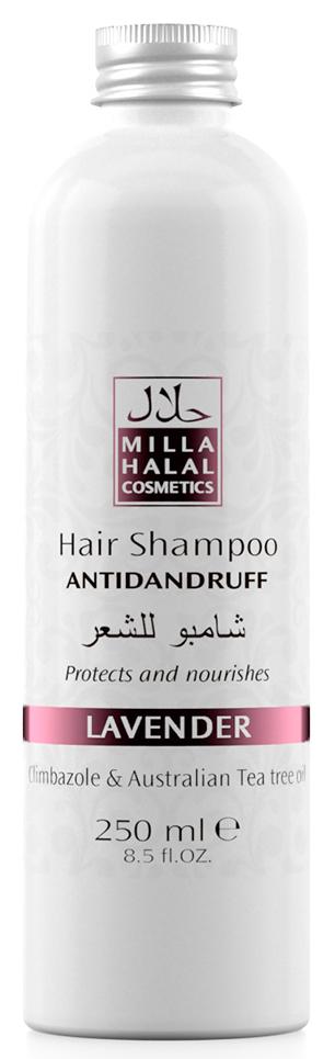 milla g15100840352 Milla Halal Cosmetics Шампунь против перхоти с маслом чайного дерева, эф. маслом лаванды и климбазолом MILLA LAVANDER, 250МЛ