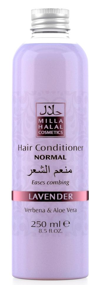 Milla Halal Cosmetics Кондиционер для нормальных волос с экстрактами вербены и алоэ вера MILLA LAVANDER, 250МЛ10984100% натуральный продукт. Кондиционер для нормальных волос с экстрактами листьев Вербены лекарственной и Алоэ Вера является эффективным средством по уходу за любым типом волос, подходит для частого применения. Кондиционер значительно облегчает расчёсывание волос, не утяжеляет их.