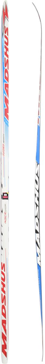 Лыжи беговые Madshus Race Combi MG, цвет: белый, красный, синий, длина 195 см лыжи беговые tisa top universal с креплением цвет желтый белый черный рост 182 см