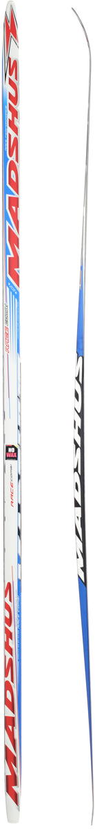 Лыжи беговые Madshus Race Combi MG, цвет: белый, красный, синий, длина 205 см