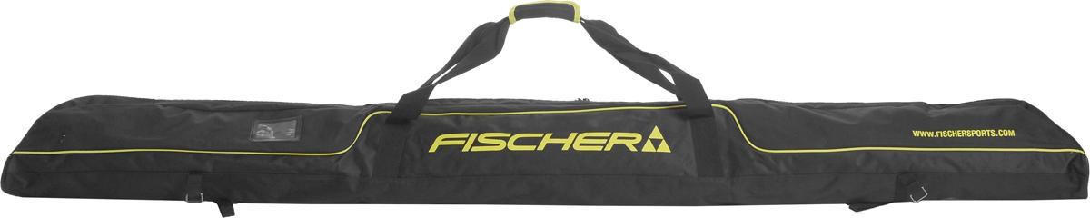 Чехол для лыж Fischer XC, на 3 пары, длина 210 смZ02115Удобный чехол на три пары лыж Fischer XC - это удобный и незаменимый аксессуар. Чехол имеет двусторонний замок. Изделие оснащено специальными затягивающимися ремнями-застежками и плечевыми ремнями. Практичный чехол для хранения пары лыж имеет темную расцветку и декорирован яркими полосами и логотипом производителя. Модель имеет удобную конструкцию, которая позволяет удобно хранить или транспортировать пару лыж. Чехол пошит из прочного материала, который имеет тканую структуру и обладает высокой износостойкостью и прочностью. Ткань стойкая к порезам и проколам, которые могут возникать в процессе эксплуатации. Благодаря хорошим водоотталкивающим свойствам материала исключается попадание влаги вовнутрь, что позволяет сохранять палки в сухих комфортных условиях. Чехол подойдет как начинающим лыжникам, так и опытным спортсменам.