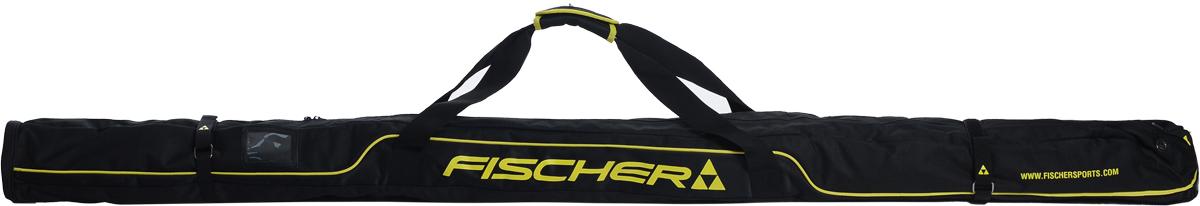 Чехол для лыж Fischer XC, на 1 пару, длина 195-210 смZ02015Удобный чехол на 1 пару лыж Fischer XC - это удобный и незаменимый аксессуар. Чехол имеет двусторонний замок. Изделие оснащено специальными затягивающимися ремнями-застежками и плечевыми ремнями. Практичный чехол для хранения пары лыж имеет темную расцветку и декорирован яркими полосами и логотипом производителя. Модель имеет удобную конструкцию, которая позволяет удобно хранить или транспортировать пару лыж. Чехол пошит из прочного материала, который имеет тканую структуру и обладает высокой износостойкостью и прочностью. Ткань стойкая к порезам и проколам, которые могут возникать в процессе эксплуатации. Благодаря хорошим водоотталкивающим свойствам материала исключается попадание влаги вовнутрь, что позволяет сохранять палки в сухих комфортных условиях. Чехол подойдет как начинающим лыжникам, так и опытным спортсменам.Регулируемая длина: 195-210 см.