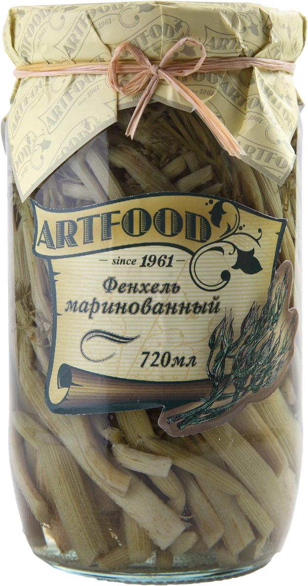 Artfood фенхель маринованный, 720 мл23001110200026Фенхель - это овощ, в котором полностью отсутствуют жиры и крахмал, поэтому в нем минимальное количество калорий. В фенхеле содержится много воды, поэтому его употребляют как мочегонное средство, а также как средство для повышения аппетита.Маринованный фенхель - отличная закуска к мясу. Его можно добавлять в салаты и супы для пикантности и аромата.