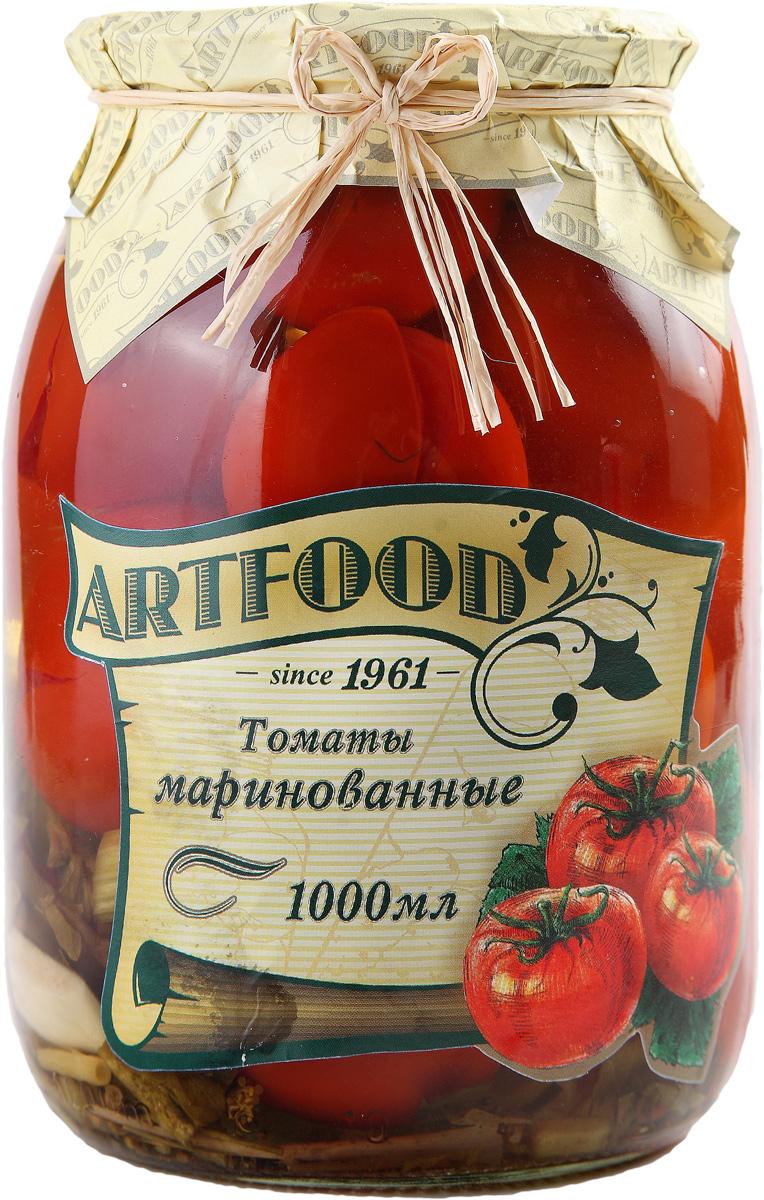 Artfood томаты маринованные, 1000 мл23001110200020Маринованные томаты любят взрослые и дети.Приобретая маринованные томаты, стоит обратить внимание на состав баночки. При консервации не должно использоваться никаких искусственных добавок, чтобы помидорки были не только вкусные, но и полезные. Выбирая маринованные томаты Artfood, вы можете быть уверены в качестве продукции.