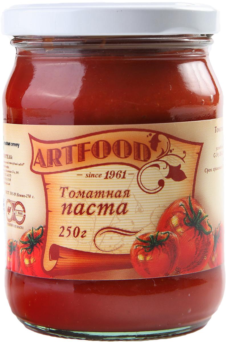 Artfood томатная паста, 250 г21001110200000Впервые продукт, напоминающий томатную пасту, появился в XIX веке в Италии: итальянские повара готовили соусы из томатов, добавляя туда оливковое масло с перцем и чеснок.Томатная паста является не только вкусной, но и полезной. Ее добавляют в различные блюда, так как она придает пикантность, цвет и насыщенный аромат пище.