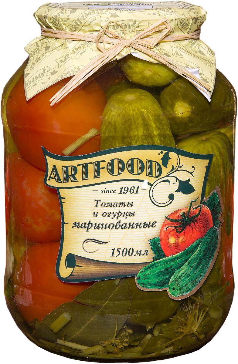 Artfood томаты и огурцы маринованные, 1500 мл artfood аппетит 720 мл