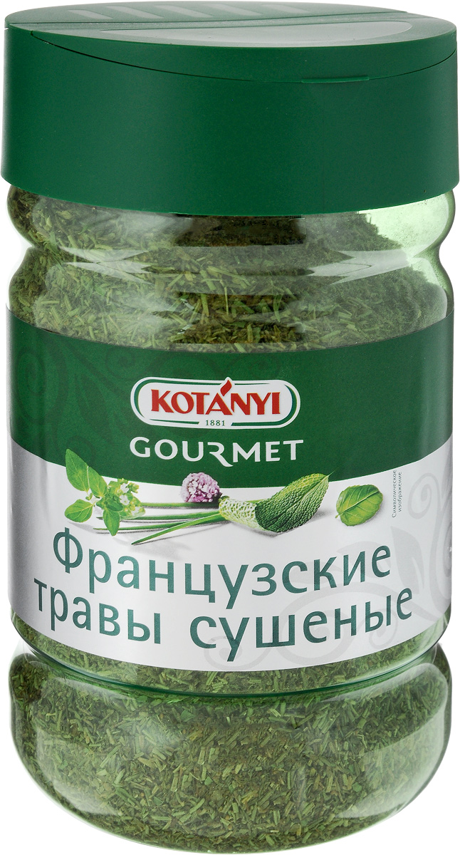 Kotanyi Приправа Французские травы сушеные, 270 г243911Французские сушеные травы Kotanyi обладают пряным ароматом, который раскрывается в процессе приготовления.Отлично подходят к мясу, рыбе, блюдам из птицы, а также к овощам и средиземноморским салатам.Уважаемые клиенты! Обращаем ваше внимание, что полный перечень состава продукта представлен на дополнительном изображении.