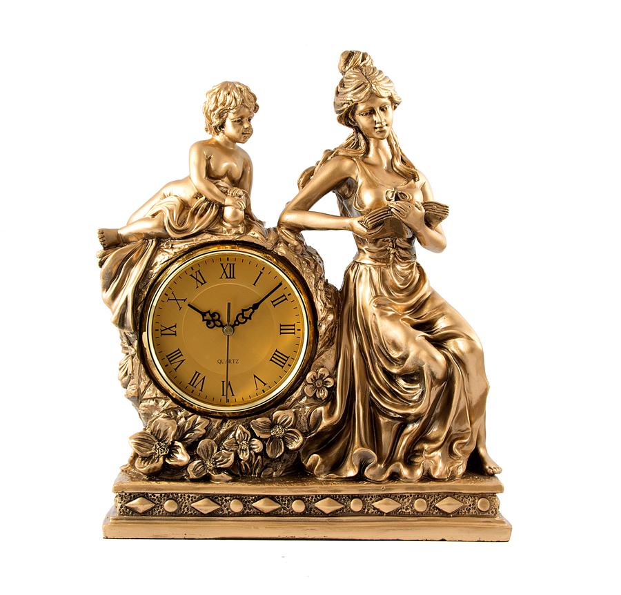 Часы настольные Русские Подарки Девушка, 37 х 16 х 43 см. 5937459374Настольные кварцевые часы Русские Подарки Девушка изготовлены из полистоуна, циферблат защищен стеклом. Часы имеют три стрелки - часовую, минутную и секундную.Изящные часы красиво и оригинально оформят интерьер дома или рабочий стол в офисе. Также часы могут стать уникальным, полезным подарком для родственников, коллег, знакомых и близких.Часы работают от батареек типа АА (в комплект не входят).