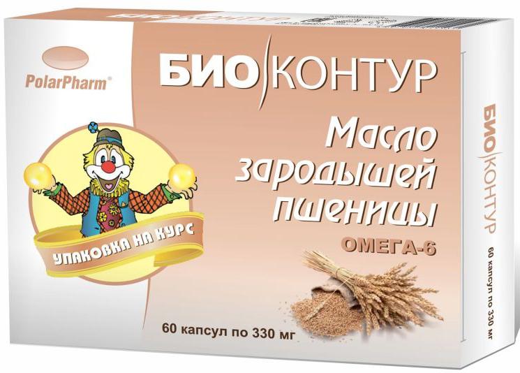 """Масло зародышей пшеницы """"БиоКонтур"""", в капсулах 330 мг, №60"""