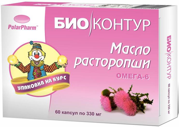 Масло расторопши БиоКонтур, в капсулах 330 мг, №604607097011955Масло расторопши БиоКонтур в капсулах 330 мг №60 способствует восстановлению пораженных клеток печени способствует предупреждению нарушения структуры и функции печени способствует понижению уровня холестерина в крови Состав: масло расторопши, оболочка (желатин, глицерин (пластификатор), вода), витамин ЕТовар не является лекарственным средством.Могут быть противопоказания и следует предварительно проконсультироваться со специалистом.