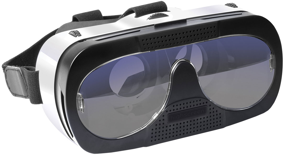 Highscreen VR-glass, White Black очки виртуальной реальности23388Highscreen VR-glass - современное устройство, которое работает со всеми смартфонами на Android и iOS системах. Вам необходимо скачать (с App Store или Google Play в зависимости от операционной системы вашего смартфона) игры или видео, которые поддерживают возможность просмотра в трехмерном изображении. Откройте крышку в передней части очков, запустите необходимую программу с поддержкой VR и положите ваш телефон в специальную нишу в очках. Наденьте очки на голову. Настройте резкость регулировочными колесиками находящимися сверху на очках. И вы сможете наслаждаться 3D видео, также вы можете играть в 3D игры, которые позволяют полностью погрузиться в виртуальную реальность.Размер экрана: 3.5-6 дюймовРегулировка линз: под размер экранаФокусное расстояние: 55-65 ммУгол обзора: 85-95 градусовРасстояние до объекта: 10 ммМежзрачковое расстояние: 54-74 мм