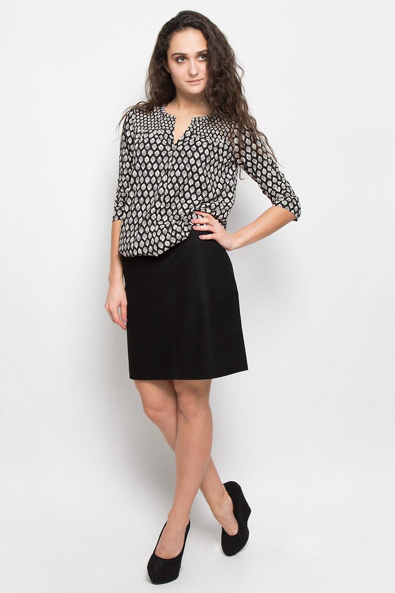 Блузка женская Marc O'Polo, цвет: черный, бежевый. 300952515. Размер M (44) marc cain блузка