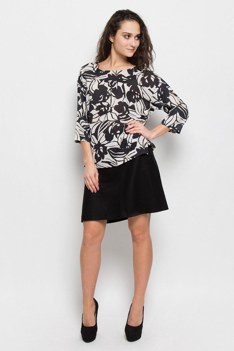 Блузка женская Marc O'Polo, цвет: черный, белый. 176542229. Размер 38 (42) marc cain блузка