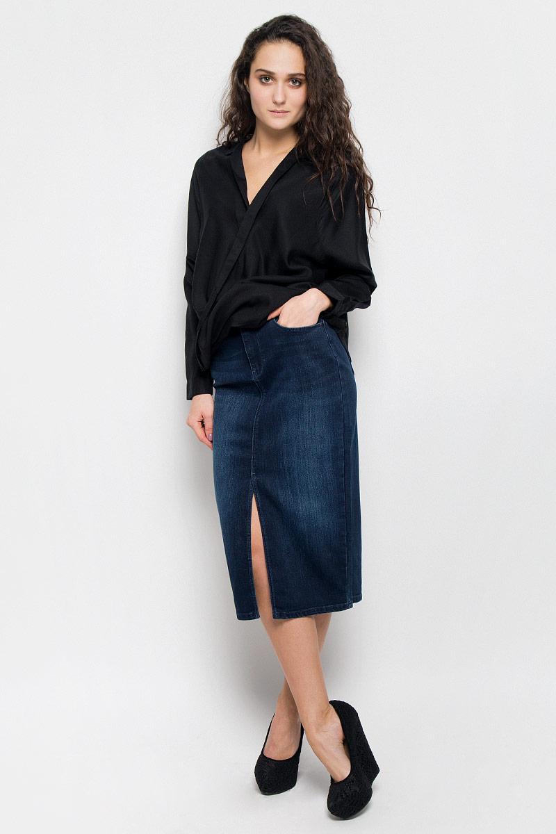 Блузка женская Wrangler, цвет: черный. W5180BD01. Размер XS (42)W5180BD01Женская блуза Wrangler, выполненная из высококачественного материала, подчеркнет ваш уникальный стиль и поможет создать оригинальный женственный образ. Блузка с отложным воротником и длинными рукавами. Манжеты рукавов застегиваются на пуговицы.