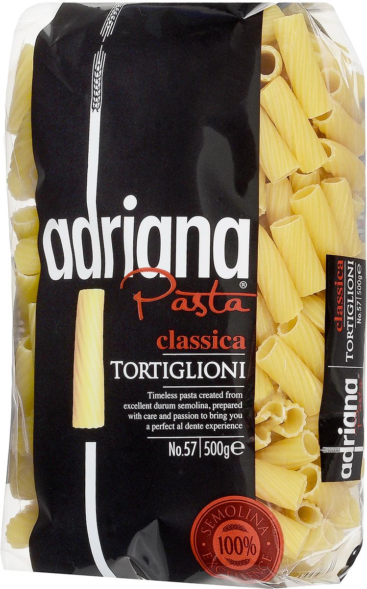 Adriana Tortiglioni паста, 500 г15027Adriana - высококачественная паста из 100% семолины. Только 100% семолина или качественная мука из специальных твердых сортов пшеницы гарантирует, что паста, даже после превышения рекомендуемого времени приготовления, не разварится и не слипнется после охлаждения. Этот вид макаронных изделий превосходно совмещается с плотными и насыщенными соусами из мяса или сыров с добавлением грибов. В свою очередь, он отлично подойдет для разнообразных запеканок.Лайфхаки по варке круп и пасты. Статья OZON Гид
